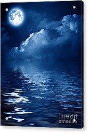 Beautiful Mysterious Moon Acrylic Print