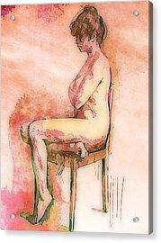 Beautiful Nude Woman Acrylic Print by John Malone