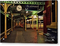 Acrylic Print featuring the photograph Beautiful Old Albury Station By Kaye Menner by Kaye Menner