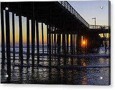 Beautiful Pismo Beach Sunset Acrylic Print by Garry Gay