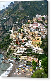 Beautiful Positano Acrylic Print by Carla Parris