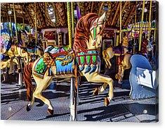 Beautiful Prancing Carrousel Horse Acrylic Print