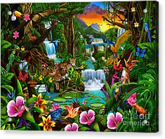 Beautiful Rainforest Acrylic Print by Gerald Newton