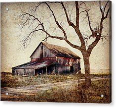 Beautiful Red Barn-near Ogden Acrylic Print