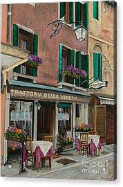 Beautiful Restaurant In Venice Acrylic Print by Charlotte Blanchard