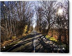 Beautiful Roads In Winters Shadow Acrylic Print by Jorgo Photography - Wall Art Gallery