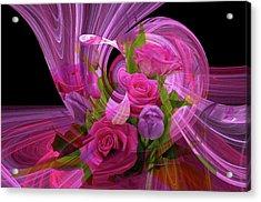 Beautiful Rose Bouquet Montage Acrylic Print