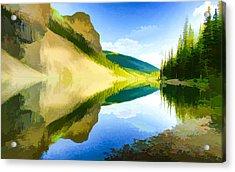 Beautiful Summer  Mountain Lake  Acrylic Print