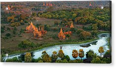 Beautiful Sunrise In Bagan Acrylic Print