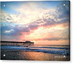 Beautiful Sunrise In Myrtle Beach South Carolina Usa Acrylic Print by Vizual Studio