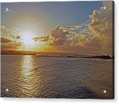 Beautiful Sunset Acrylic Print by Gary Wonning
