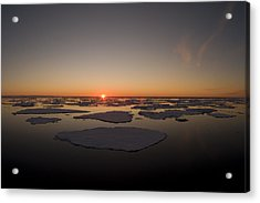 Beautiful Sunset Over An Arctic Ice Acrylic Print by Norbert Rosing