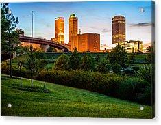 Beautiful Tulsa Oklahoma - Central Park Acrylic Print