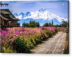 Beautiful View Of A Scary Mountain Acrylic Print