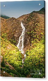 Beautiful Waterfall In Sunlight Acrylic Print
