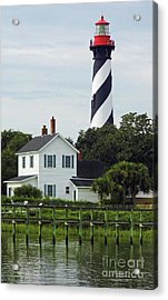 Beautiful Waterfront Lighthouse Acrylic Print by D Hackett