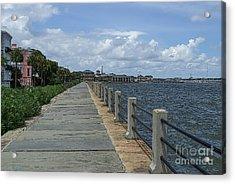Beautiful Waterfront Walkway Acrylic Print