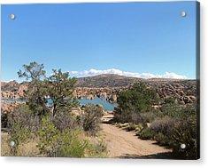 Acrylic Print featuring the photograph Beautiful Watson Lake by Gordon Beck