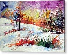 Beautiful Winter Acrylic Print by Kovacs Anna Brigitta
