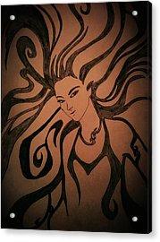 Beautiful Witch Acrylic Print by Kiran Kumar