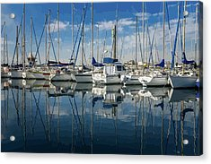 Beautiful Yachts Moored In The Marina Acrylic Print