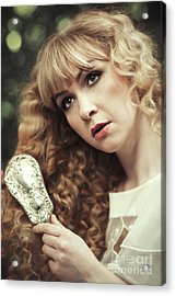 Beautiful Young Woman  Acrylic Print