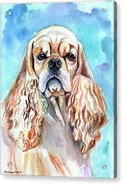 Beauty - American Cocker Spaniel Acrylic Print by Lyn Cook