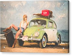 Acrylic Print featuring the digital art Beauty And The Beetle - Road Trip No.1 by Serge Averbukh