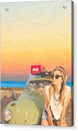 Acrylic Print featuring the digital art Beauty And The Beetle - Road Trip No.2 by Serge Averbukh