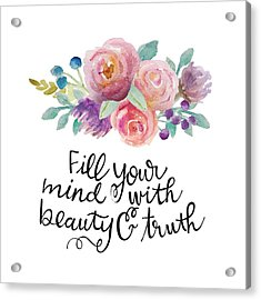 Beauty And Truth Acrylic Print