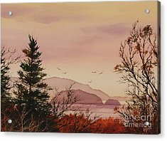 Acrylic Print featuring the painting Beauty At The Shore by James Williamson
