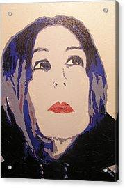 Beauty Beyond The Blue Acrylic Print by Ricklene Wren