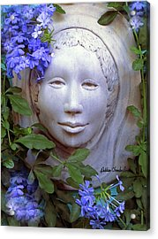 Beauty Blue Acrylic Print by Debbie Chamberlin