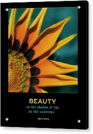 Beauty Acrylic Print by Bonnie Bruno
