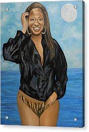 Beauty By The Sea Acrylic Print by Angelo Thomas