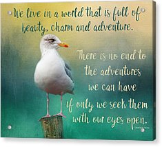 Beauty, Charm And Adventure Acrylic Print