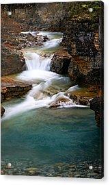 Beauty Creek Cascades Acrylic Print by Larry Ricker