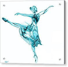 Beauty, Grace And Music Of The Ballerina Acrylic Print by Abstract Angel Artist Stephen K