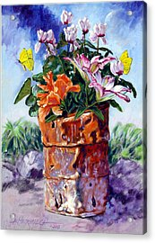 Beauty Grows Everywhere Acrylic Print by John Lautermilch