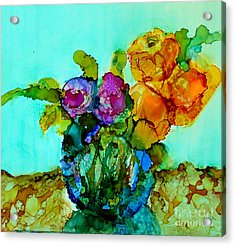 Acrylic Print featuring the painting Beauty Of Flowers by Priti Lathia