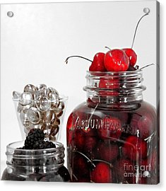 Beauty Of Red Cherries Acrylic Print