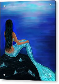 Acrylic Print featuring the painting Beauty Of The Isle by Leslie Allen