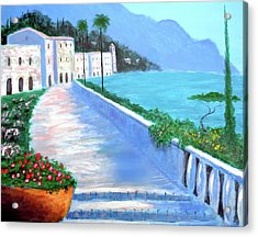 Beauty Of The Riviera Acrylic Print by Larry Cirigliano