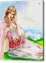 Beauty Of The View Acrylic Print by Scarlett Royal