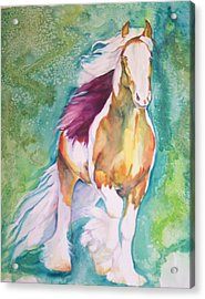 Acrylic Print featuring the painting Beauty by P Maure Bausch