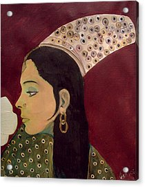 Acrylic Print featuring the mixed media Beauty Queen Of The Mughals by Saad Hasnain