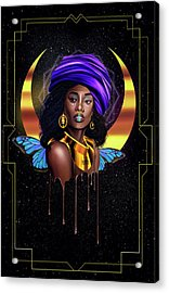 Beauty Queen Tia Acrylic Print by Kenal Louis