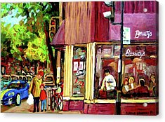 Beautys Luncheonette Montreal Diner Acrylic Print by Carole Spandau