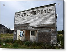 Beaver Lumber Company Ltd Robsart Acrylic Print by Bob Christopher