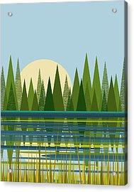 Beaver Pond - Vertical Acrylic Print